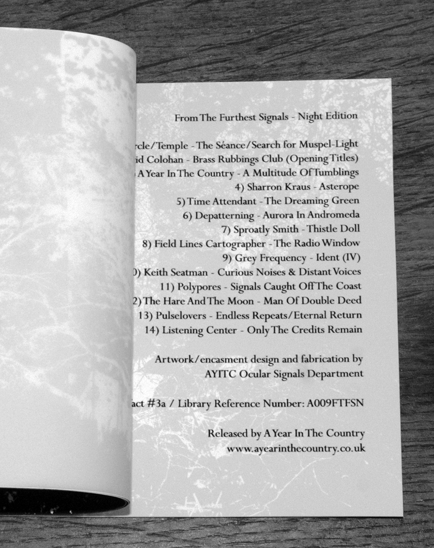 From The Furthest Signal-Night-opened booklet page-A Year In The Country