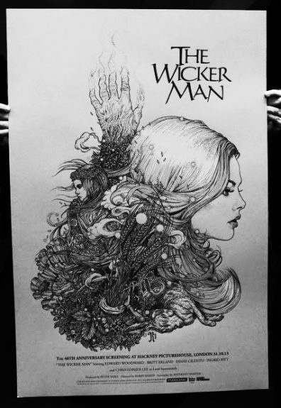 The Wicker Man-Richard Beckett poster-silver hair variant-A Year In The Country