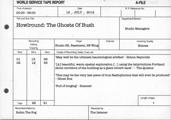 Howlround-Robin The Fog-the-ghosts-of-bush-alt-press-release-Ghost Box-Scanner-Simon Reynolds-A Year In The Country