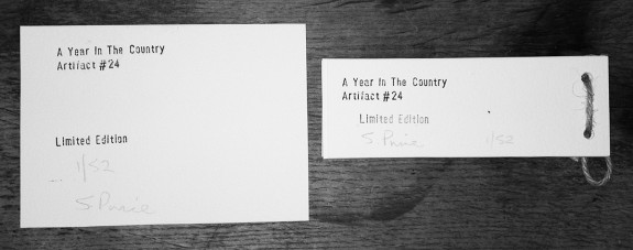 Artifact 24-back of book and print-A Year In The Country