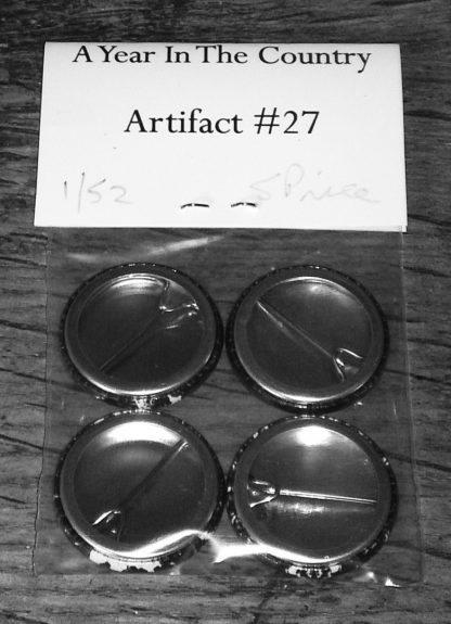Artifact 27-The Marks On The Land badge set-back of badge set-A Year In The Country