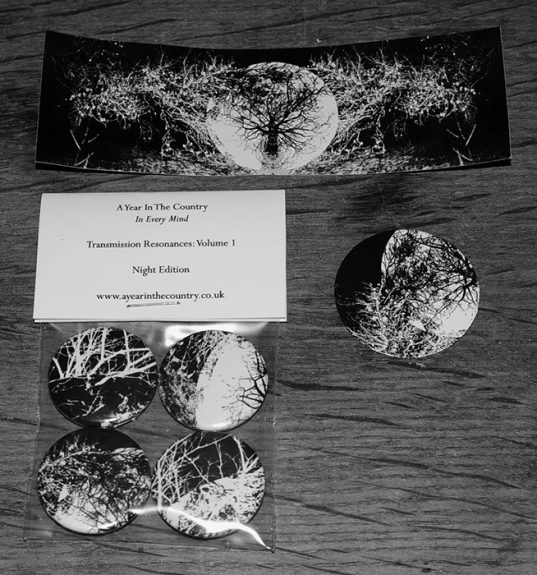 A Year In The Country-In Every Mind-Night edition-stickers and badge pack-audiological construct-transmission resonances volume 1