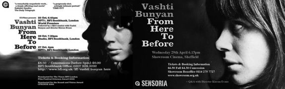 Vashti Bunyan-From Here To Before-Kieran Evans-2008 film-NFT BFI Sensoria Showroom Sheffield