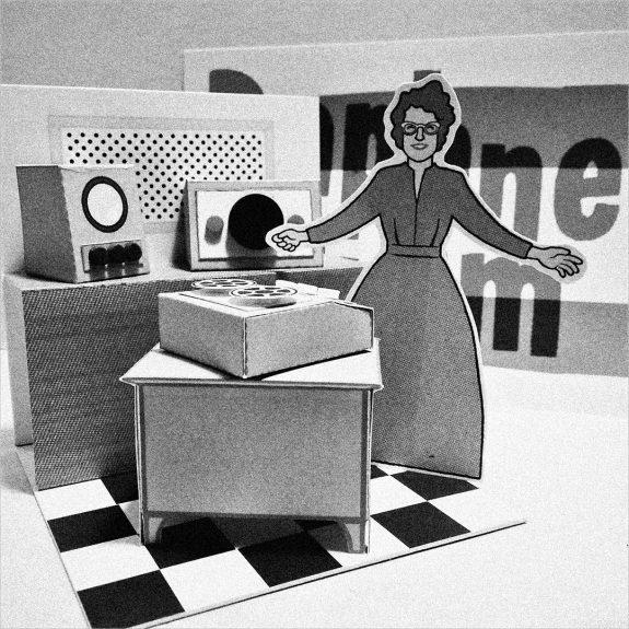 Daphne Oram diorama-Heykidsrocknroll