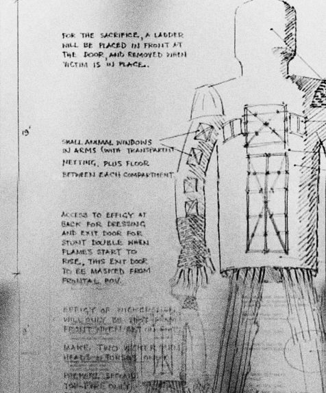 The Wicker Man-1973-production notes-sketch