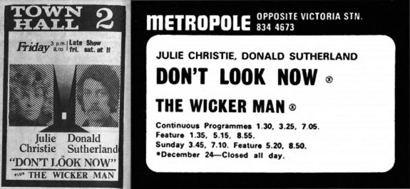The Wicker Man and Dont Look Now-double bill adverts