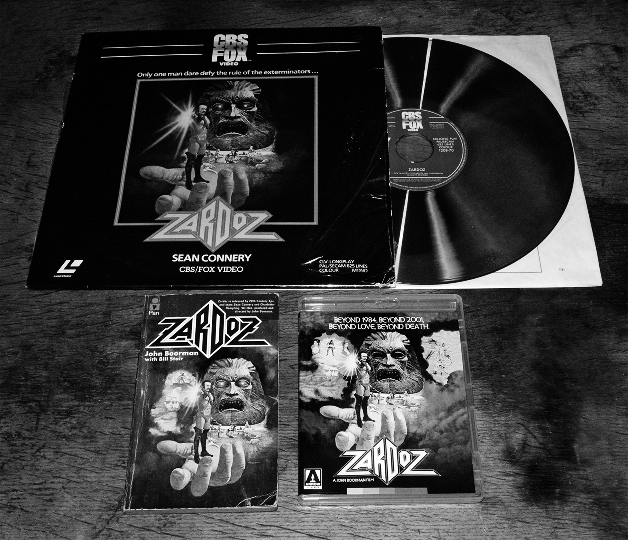 Zardoz-laser disc-novel-Arrow Bluray-A Year In The Country