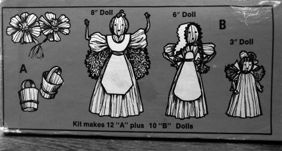 Hazels Kaboodles Corn Husk doll kit-illustrations