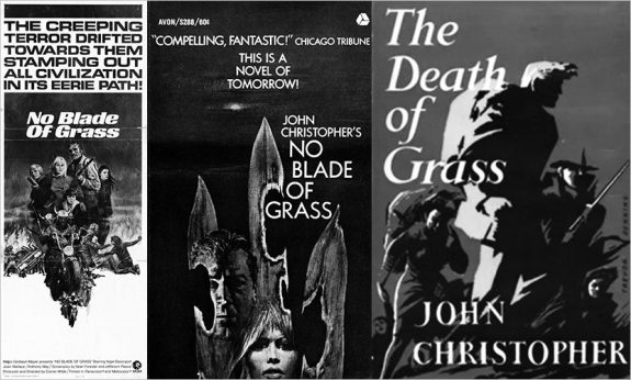 No-Blade-Of-Grass-The Death of Grass-John Christopher-book covers and film poster