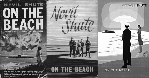 On The Beach-Nevil Shute-three book cover variations-film tie-in