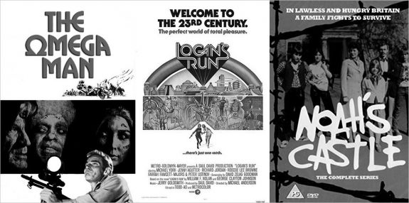The Omega Man-Logans Run-Noahs Castle-1970s science fiction film and television posters-DVD cover