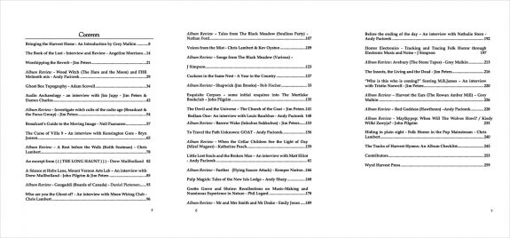 Folk Horror Revival-Harvest Hymns-Sweet Fruit-book contents-1px stroke