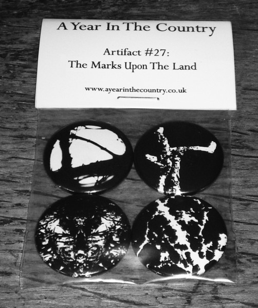 Artifact 27-The Marks On The Land badge set-front of badge set-A Year In The Country copy