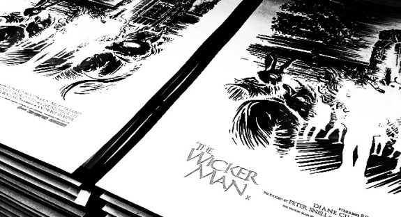 The Wicker Man-Dan Mumford poster detail-A Year In The Country