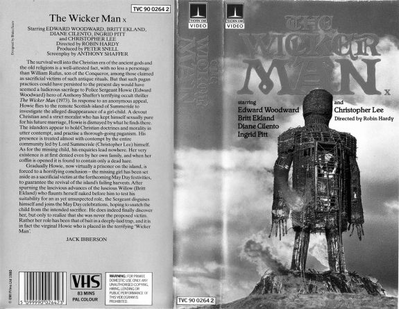 The Wicker Man-VHS video cover-A Year In The Country