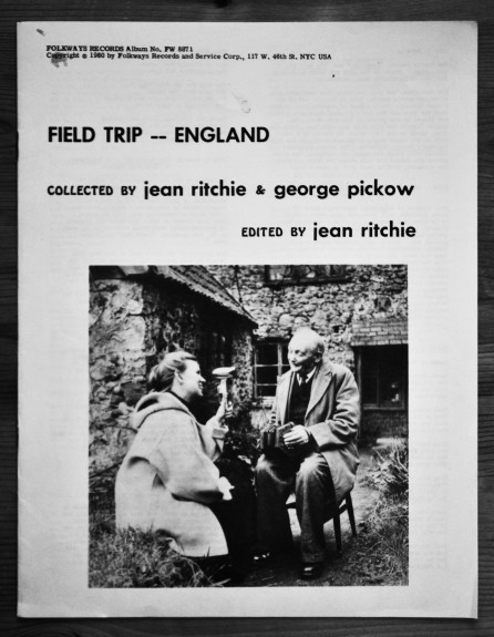 A Field Trip England-Folkways Records-Jean Ritchie and Georg Pickow-A Year In The Country-7