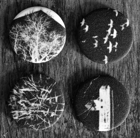Artifact 18-four fabric badges-A Year In The Country