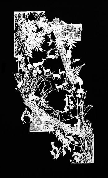 Emma Van Leest-Paper Cutting-A Year In The Country-dowsed heart