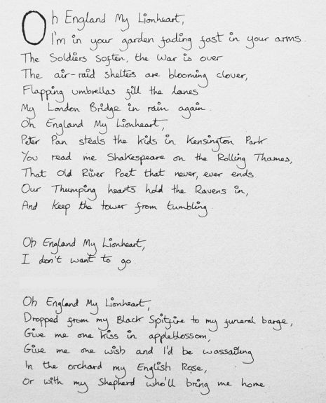 Oh England My Lionheart-lyrics-Kate Bush-A Year In The Country-2
