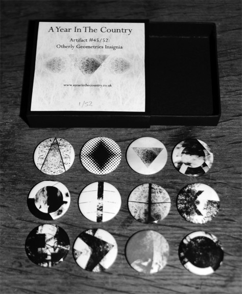 Artifact 45-Other Geometries Insignia-badges-open box and badges-A Year In The Country