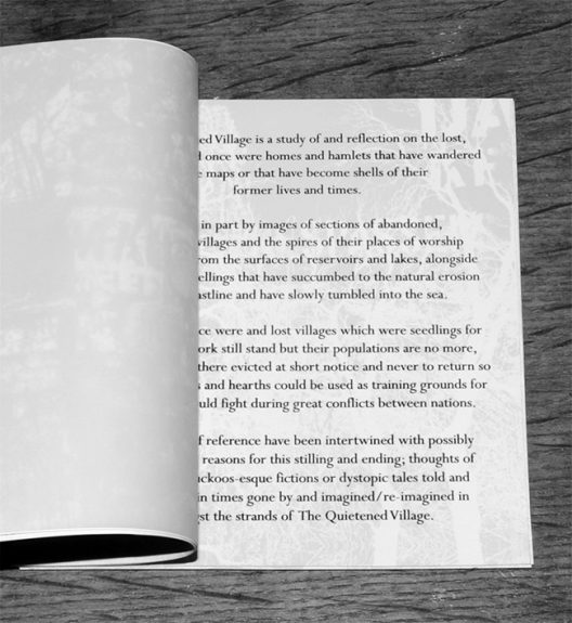 The Quietened Village-Night Edition-inner vellum and notes page-lighter-A Year In The Country