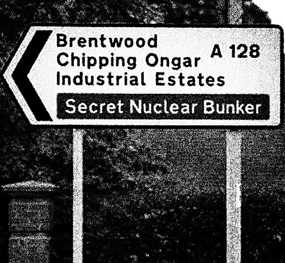 The Quietened Bunker-secret bunker tourist road signs-A Year In The Country-2