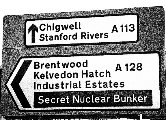 The Quietened Bunker-secret bunker tourist road signs-A Year In The Country