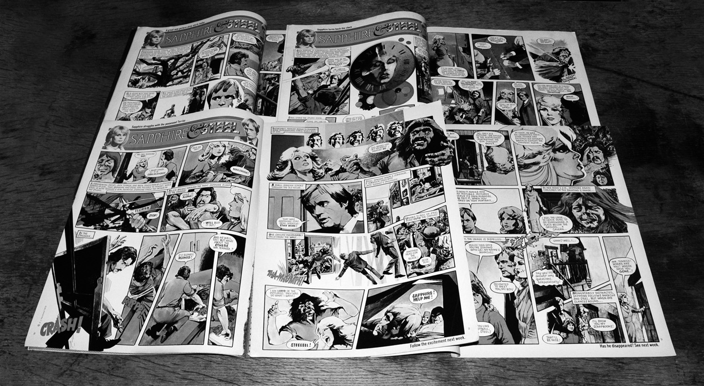 sapphire-steel-look-in-comic-strips-first-four-episodes-a-year-in-the-country