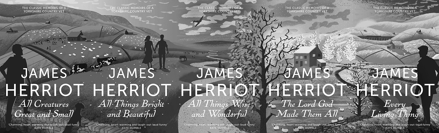 James Herriot-All Creatures Great And Small-2013 book reissues-Tom Cole artwork-A Year In The Country
