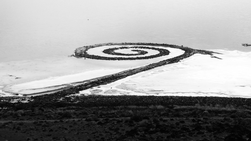 Spiral-jetty-from-rozel-point-Troublemakers-The Story Of Land Art-A Year In The Country