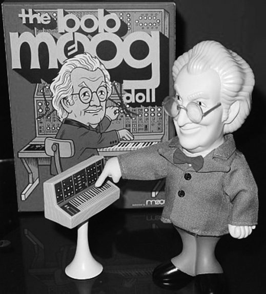 Bob Moog doll-figure-Press Pop