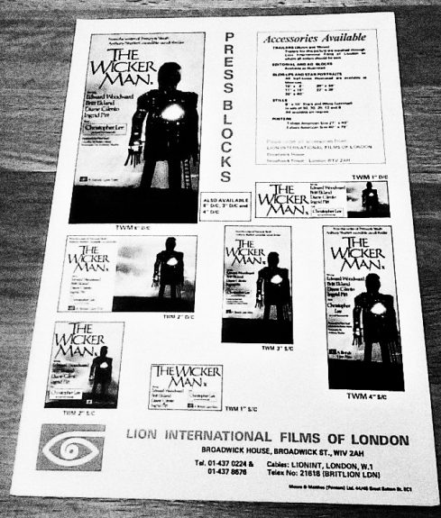 The Wicker Man-1973-UK press book