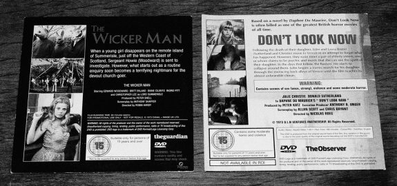 The Wicker Man-Dont Look Now-double bill-The Guardian and The Observer DVDs-2