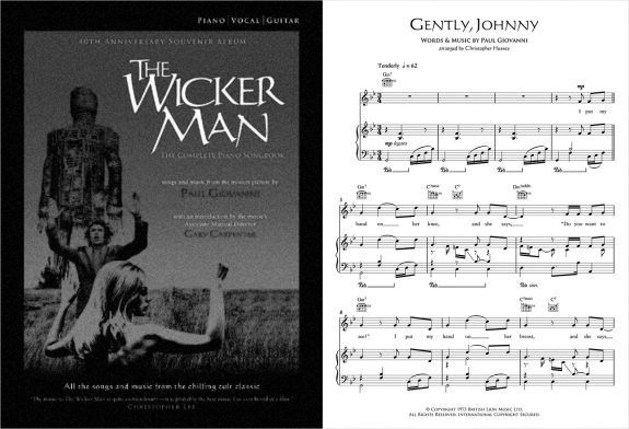 The Wicker Man-The Complete Piano Songbook-with sheet music