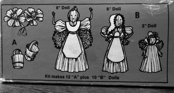 Hazels Kaboodles Corn Husk doll kit-illustrations