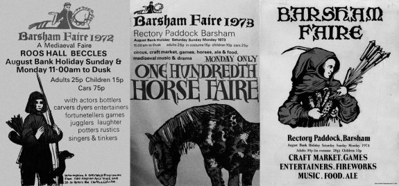 Barsham Faire posters-1972-1973-1974