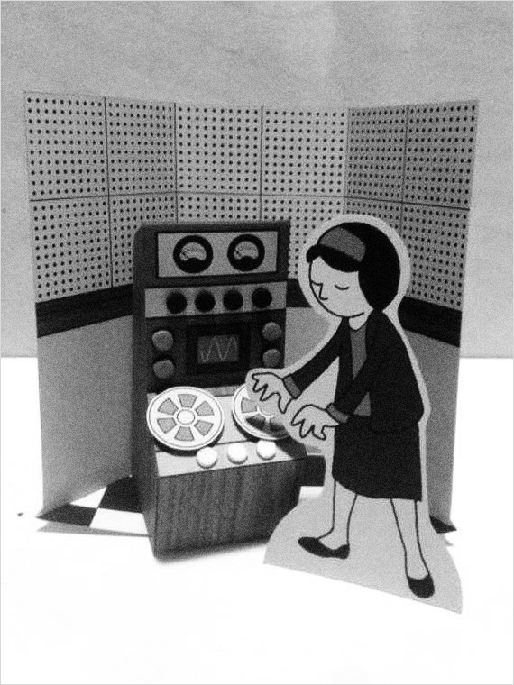 Delia Derbyshire diorama-The Electronic Church Of St Delia-A Year In The Country-stroke