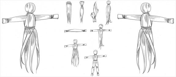 Corn Husk Doll-instruction illustration-how to make-4