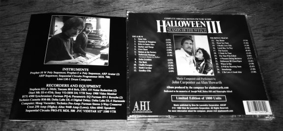 Halloween III-complete soundtrack-John Carpenter-Alan Howarth-1