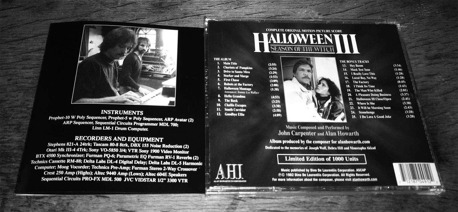 halloween iii complete soundtrack john carpenter alan howarth 1