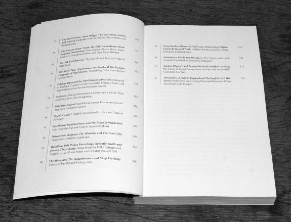 A Year In The Country-Wandering Through Spectral Fields book-Chapter 37 to 52 contents list