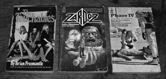 The Touchables-Brian Freemantle-Zardoz-John Boorman-Bill Stair-Phase IV-Barry Malzberg-books-novelisations-film tie-ins