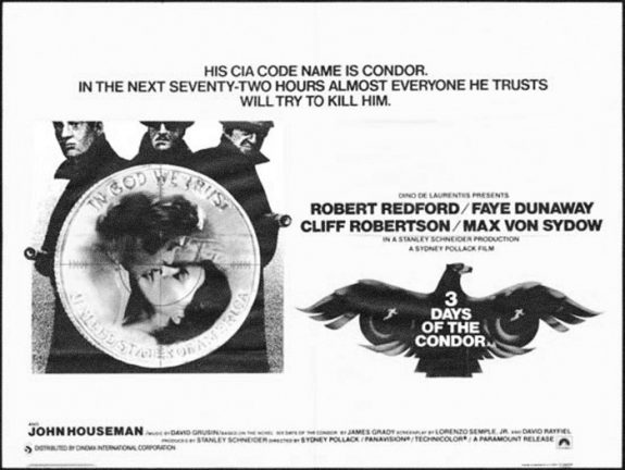 3 Days of the Condor-Sydney Pollack-1975-film poster
