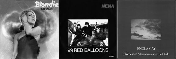 Blondie-Atomic-Nena-99 Red Ballons-OMD-Enola Gay-single covers
