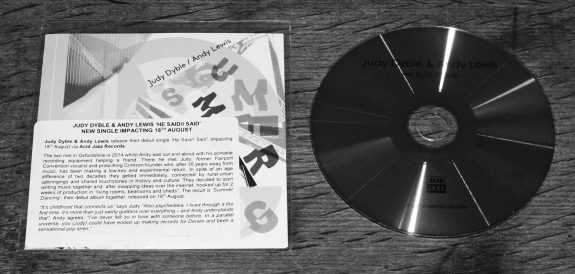 Judy Dyble-Andy Lewis-Summer Dancing-Acid Jazz-album-He Said-I Said CD promo single