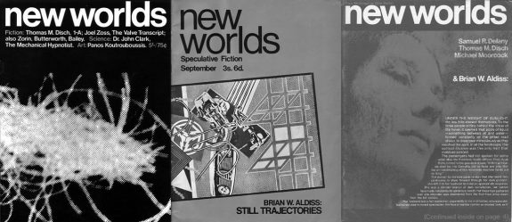 New Worlds magazine covers-1960s-Michael Moorcock-Thomas M Disch-Brian Aldiss-Samuel R Delaney