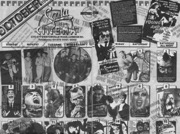 Scala cinema program-1986-London