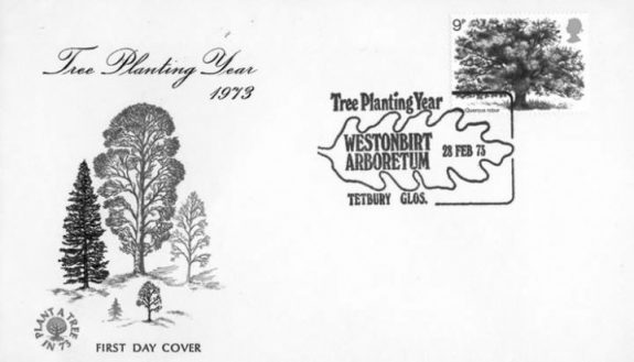 Stamp-1973-Royal Mail-Plant a Tree in 73-first day cover-1