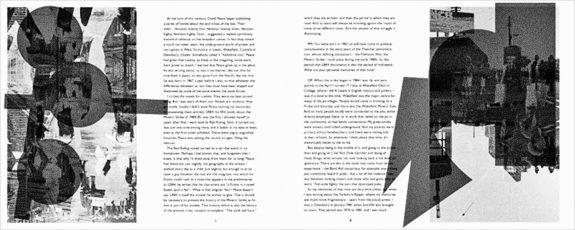 The Stink Still Here-David Peace-Paul Myerscough-Text und Tone-page spread