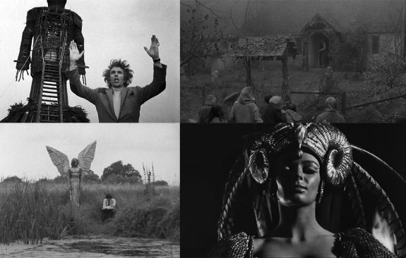 stills from The Wicker Man-The Monster Club-Pendas Fen-Curse of the Crimson Altar-2